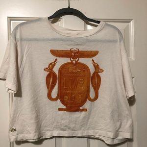 Lacoste Live ladies designer top shirt L